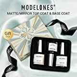 Modelones Set Matte Top Coat High Gloss Top Coat