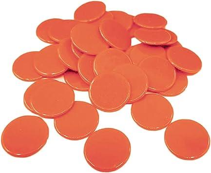 Baoblaze 100 Piezas Juego de Mesa Fichas de Poker Plástico - Naranja: Amazon.es: Juguetes y juegos