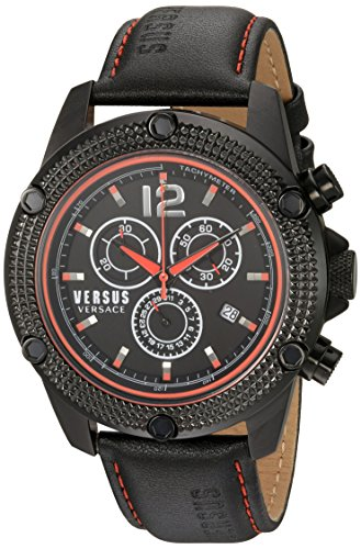 Versus-by-Versace-Mens-AVENTURA-Quartz-Stainless-Steel-and-Leather-Casual-Watch-ColorBlack-Model-SOC080015