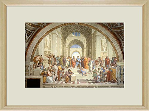 Creative 3D Visual Effect Wall Mural The School of Athens by Raphael Peel Stick Wall Decor