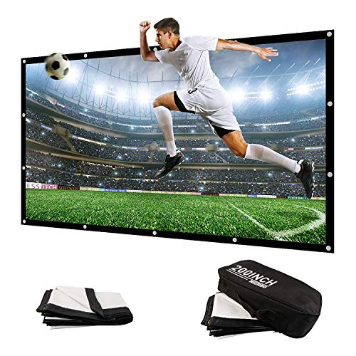 200 Inch Large Projector Screen Big 16:9 3D Portable Movie Screen Folding Projection Screen HD for Outdoor Indoor Home…