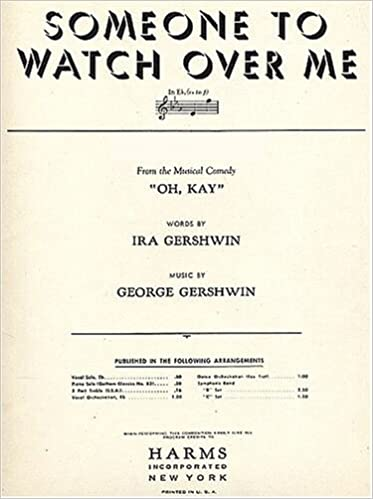 Gershwin Someone To Watch Over Me Vocal Solo In Eb Wordspiano