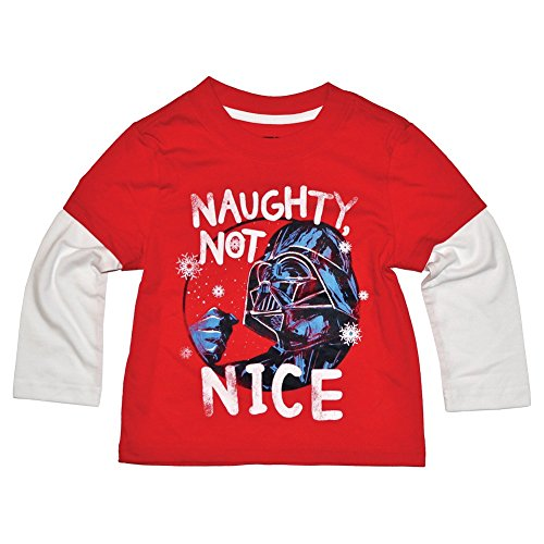 Disney Star Wars Darth Vader Naughty Not Nice T-Shirt - Toddler Boys (18 Months) -