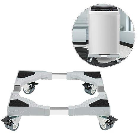 SinceY Base de frigorífico Lavadora Stent Soporte para secadoras congelador con 8 Ruedas de Goma Giratorio