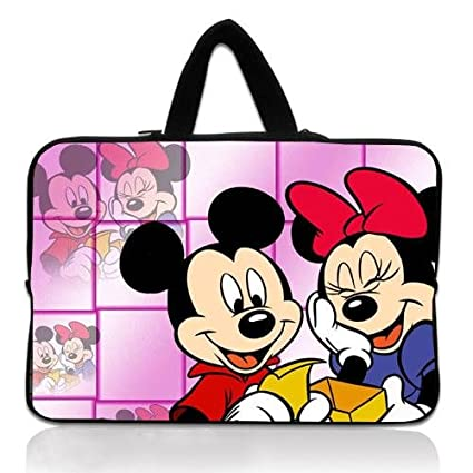 Amazon Com Designer Notebook Handbag With Mickey Mouse Wallpaper