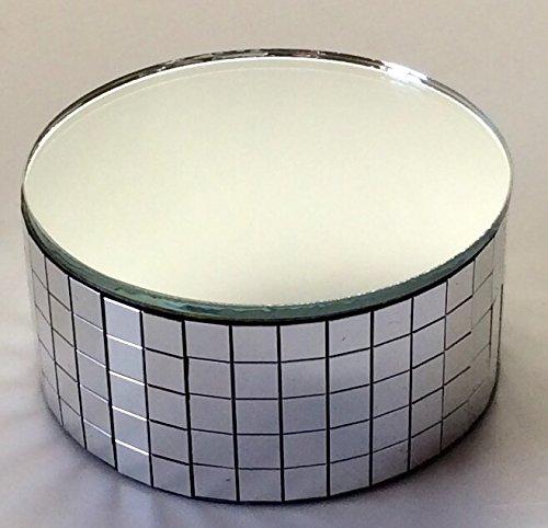 "2.25 X 1"" Silver Display Stand Mirror Riser Swarovski Crysta"