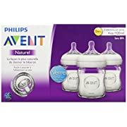 Philips AVENT Natural 4 Ounce Glass Bottle 3 Pack - F72AD0C5