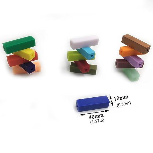 Amazon.com: amyster rectángulo silicona Beads (sin BPA ...