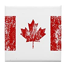 CafePress - Canada Flag Pride Tile Coaster - Tile Coaster, Drink Coaster, Small Trivet
