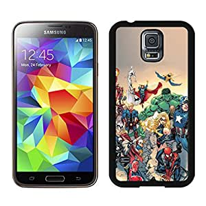 Samsung Galaxy S5 Marvel Comic Book Characters iOS Black Screen Cellphone Case Fashion and Grace Look