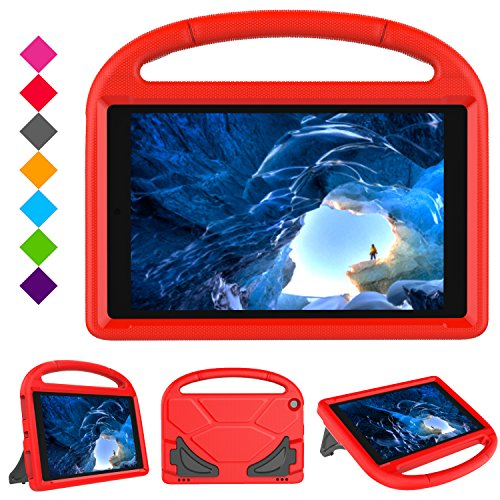 Case for F i r e H D 10 Tablet (5th Gen, 2015 Release / 7th Gen, 2017 Release) ,Kids Friendly Shock Proof Light Weight Convertible Handle Stand Case Cover for F i r e H D 10.1 Inch Tablet (Red)