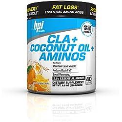 BPI Sports Cla + Coconut Oil + Aminos Non Stimulant Fat Loss Supplement Powder, Orange Freeze, 9.8 Ounce