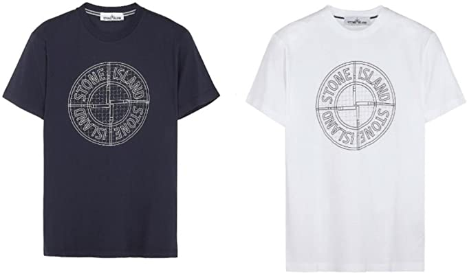 Stone Island - Camiseta - para hombre azul azul L: Amazon.es: Ropa ...