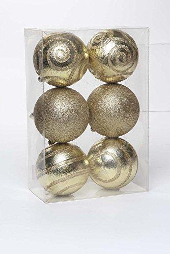 Bola De Natal P/ Árvore 6 Pçs 8Cm Dourado