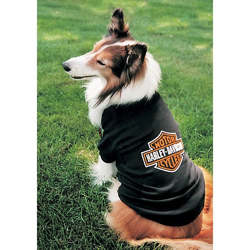 Harley Bar and Shield Dog T-Shirt X-Small