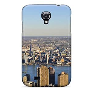 New Galaxy S4 Case Cover Casing(new York City Tiltshift Rivers)