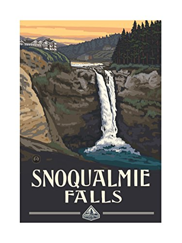 Northwest Art Mall PAL-0387L Snoqualmie Falls Artwork by Paul A. Lanquist, 18 by - Mall Snoqualmie
