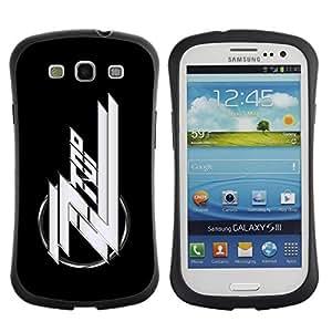 "Hypernova Slim Fit Dual Barniz Protector Caso Case Funda Para SAMSUNG Galaxy S3 III / i9300 / i747 [ZZ Band""]"
