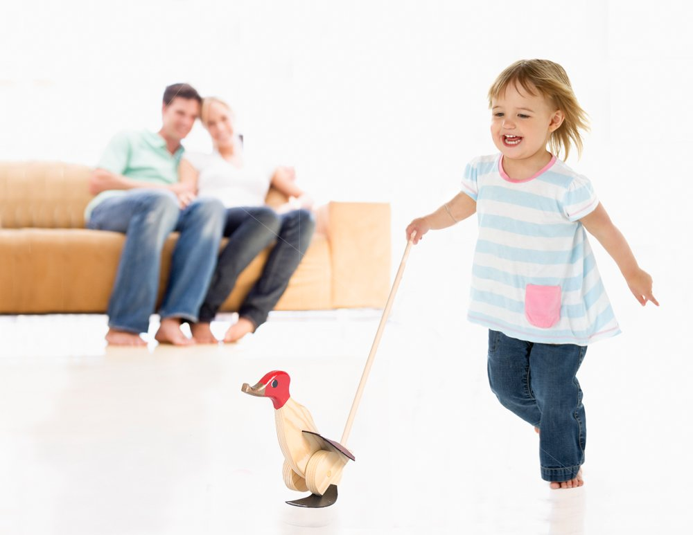 Duck Runner Wooden Push and Pull Walking Toy (Yellow) by Duck Runner (Image #6)
