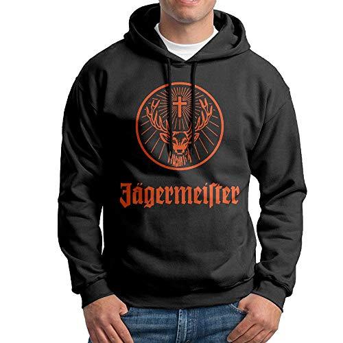 Erin Forman Mens Popular Celebrity Hooded Sweatshirt Jagermeister Logo Black XL
