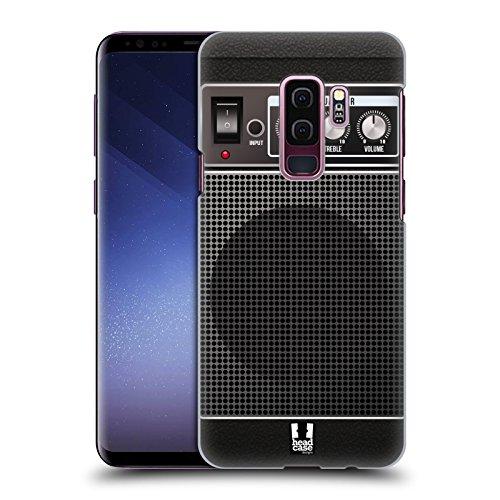 Head Case Designs Black Acoustic Guitar Amp Hard Back Case for Samsung Galaxy S9+ / S9 Plus (Guitar Amplifier Head Design)