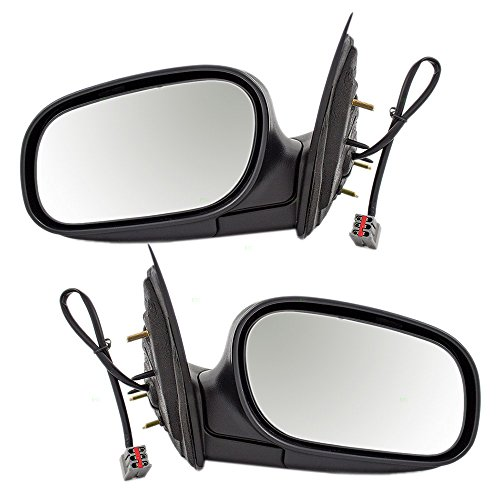 (Driver and Passenger Performance Upgrade Power Side View Mirrors with Chrome Replacement for 98-08 Ford Crown Victoria Mercury Grand Marquis 6W7Z17683AA 6W7Z17682AA)