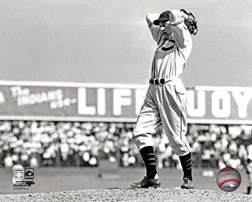MLB Bob Feller Cleveland Indians Action Photo (Size: 8