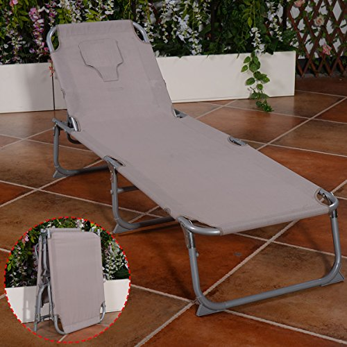 Adjustable Pool Chaise Lounge Chair Recliner Beach Outdoor Patio Deck (Textilene Recliner Chair)