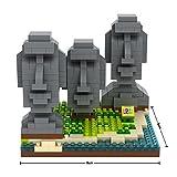 LOZUSA Easter Island 440 PCS Diamond Block Micro Blocks Architecture Construction Model, Micro-sized Building Set Parent-child Games Building Blocks Children's Educational Toys