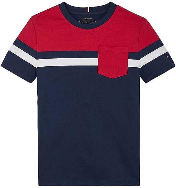 Tommy Hilfiger - kb0kb05688 C87 - Pique Stripe - Camiseta Manga Corta NIÑO: Amazon.es: Ropa y accesorios