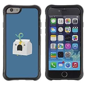 Suave TPU GEL Carcasa Funda Silicona Blando Estuche Caso de protección (para) Apple Iphone 6 PLUS 5.5 / CECELL Phone case / / Milk Character Minimalist Blue /
