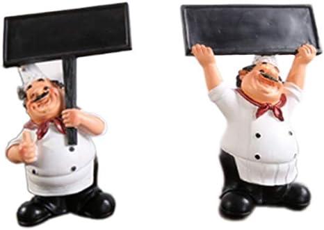 Kitchen Retro Decor Restaurant Cafe Chef Cook Figurine Toothpick Holder Statue