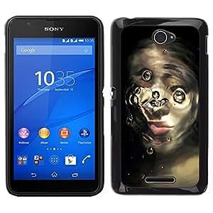 EJOY---Cubierta de la caja de protección para la piel dura ** Sony Xperia E4 ** --cara rota
