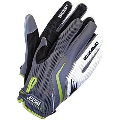 Bob Dale 20-1-10705-XL Operators Glove with Goatskin Leather Palm Mesh Back, X-Large, Grey