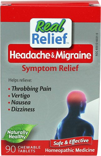 Homeolab USA Real Relief Headache & Migrane Symptom Relief 90 Chwbls