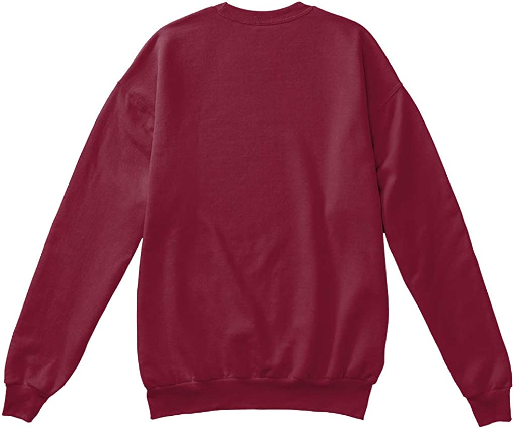 teespring Sweatshirt mit Rundhalsausschnitt, 100 % Baumwolle Burgunderfarben