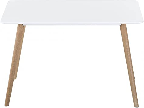 Table de salle à manger - table de cuisine - blanc - 120x80 ...