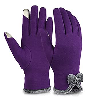 Vbiger Womens Winter Gloves Touch Screen Gloves Thick Warm