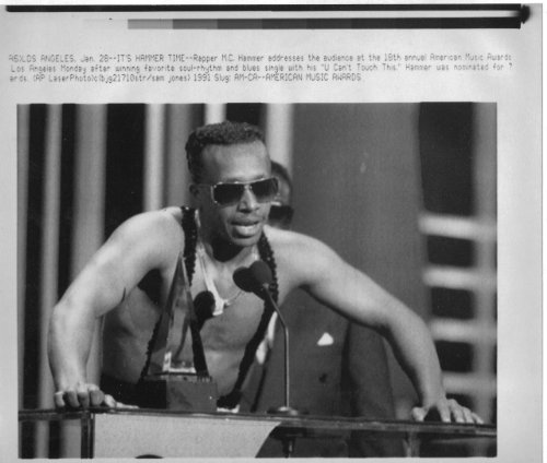 Rapper MC Hammer 1991 6x8 original WIRE PHOTO J6565