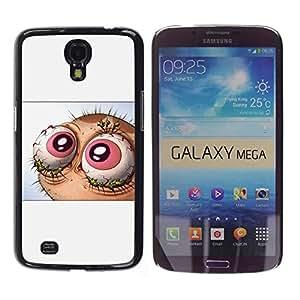 CASEX Cases / Samsung Galaxy Mega 6.3 I9200 SGH-i527 / Abstract Lol Wtf Eyes - Ren & St1Mpy # / Delgado Negro Plástico caso cubierta Shell Armor Funda Case Cover Slim Armor Defender