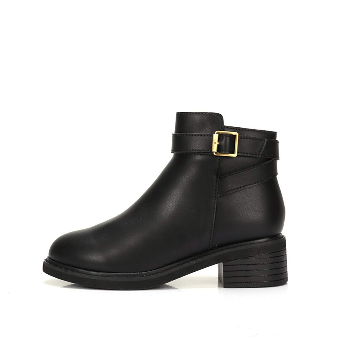 Cute girl Damen Schuhe Winter Fashion England Einfach Platz Mit Komfortablen Stiefel Kinder Schwarz