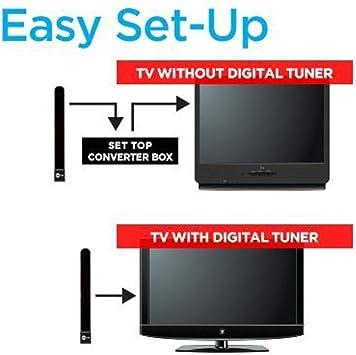 gaddrt TV Digital Indoor Antena, 1080p HDTV Antena, libre TV clave analógica señales de TV, Receptor de satélite digital: Amazon.es: Electrónica
