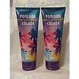 BATH AND BODY WORKS POOLSIDE COCONUT COLADA ULTRA SHEA BODY CREAM DUO 8 OZ For Sale