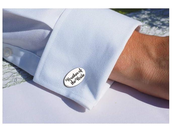 KBWL Lavalier Gemelos de joyería Ovalada de Plata para Hombres ...