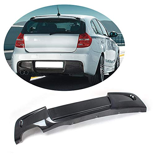 (MCARCAR KIT For BMW 1 Series E87 116i 118i 120i 130i M-tech M-Sport 2007 2008 2009 2010 Factory Customized CNC Moulding Carbon Fiber Rear Bumper Lip Diffuser (P Look Rear Diffuser))