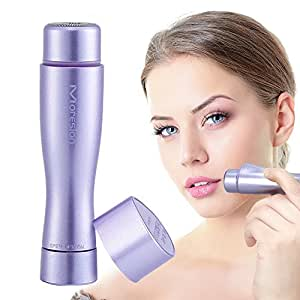 Facial Hair Remover for Women, Moreslan Waterproof Flawless Painless Hair Remover IPX 6 Electric Shaver with Built-In LED light