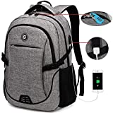 SOLDIERKNIFE Durable Waterproof Anti Theft Laptop Backpack Travel Backpacks Bookbag with usb Charging Port for Women & Men School College Students Backpack Fits 15.6 Inch Laptop Grey: more info
