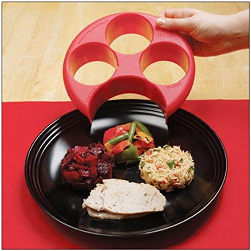 Meal Portion Control Plate Divider - Achieve Diet Weight Loss Through Measuring Food Portion Size by Lemon Hero (Image #3)