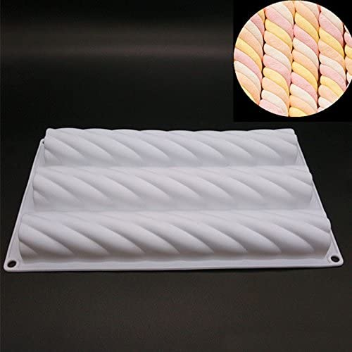 lzndeal Silicone Spiral Hemp Rope Shape Cake Bread Mould Mousse Brownie Bakeware Mold DIY Tools