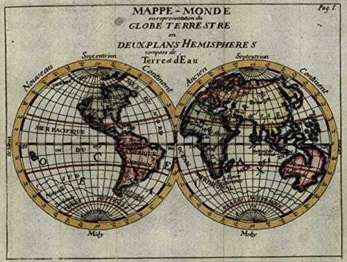 Australia Map 1700.Amazon Com Double Hemisphere World Map C 1700 20 Strange Australia